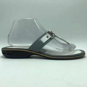 Cole Haan White Gray Flip Flop Sandals Thong Nike